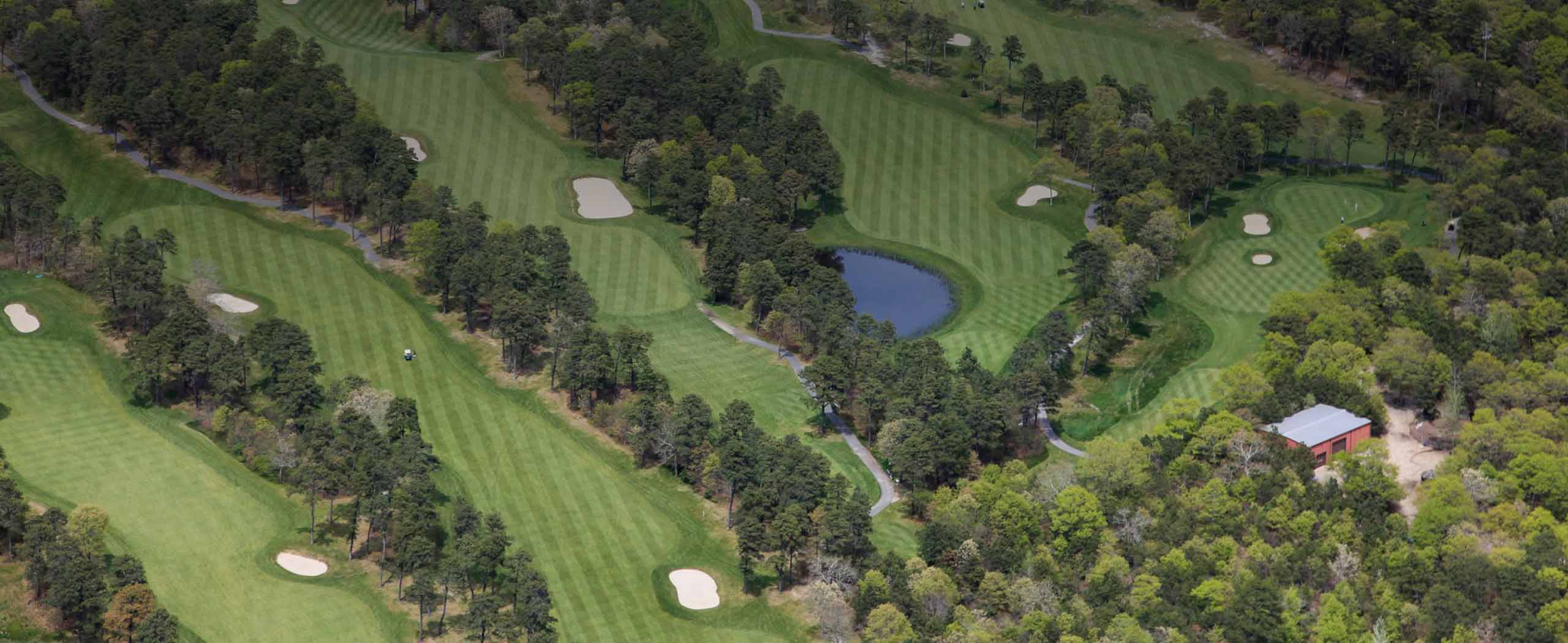 Overhead view of the Captains Golf Course on Cape Cod